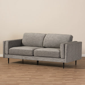 Baxton Studio Brittany Retro Mid-Century Modern Grey Fabric Upholstered 3-Seater Loveseat Baxton Studio-sofas-Minimal And Modern - 6
