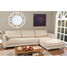 Baxton Studio Agnew Contemporary Light Beige Microfiber Right Facing Sectional Sofa Baxton Studio-sectionals-Minimal And Modern - 3