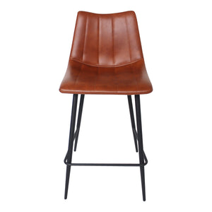 Moe's Home Collection Alibi Counter Stool Brown-Set of Two - UU-1002-03 - Moe's Home Collection - Counter Stools - Minimal And Modern - 1