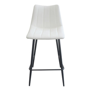Moe's Home Collection Alibi Counter Stool Ivory-Set of Two - UU-1002-05 - Moe's Home Collection - Counter Stools - Minimal And Modern - 1