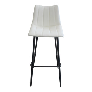 Moe's Home Collection Alibi Barstool Ivory-Set of Two - UU-1003-05 - Moe's Home Collection - Bar Stools - Minimal And Modern - 1