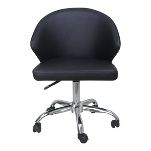 Moe's Home Collection Albus Swivel office Chair Black - UU-1015-02 - Moe's Home Collection - Office Chairs - Minimal And Modern - 1