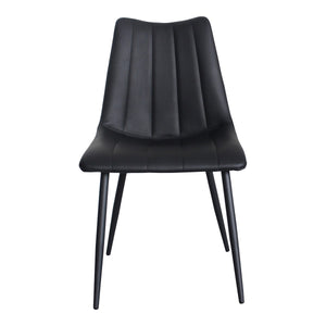 Moe's Home Collection Alibi Dining Chair Matte Black-Set of Two - UU-1022-02 - Moe's Home Collection - Dining Chairs - Minimal And Modern - 1