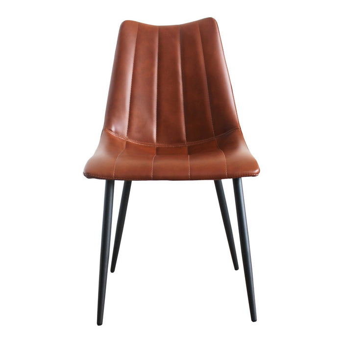Moe's Home Collection Alibi Dining Chair Brown-Set of Two - UU-1022-03 - Moe's Home Collection - Dining Chairs - Minimal And Modern - 1