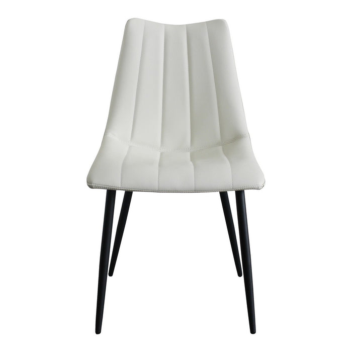 Moe's Home Collection Alibi Dining Chair Ivory-Set of Two - UU-1022-05 - Moe's Home Collection - Dining Chairs - Minimal And Modern - 1