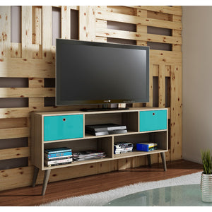 Manhattan Comfort Modern Uppsala TV Stand with 3- Shelves and 2- Drawers-Minimal & Modern