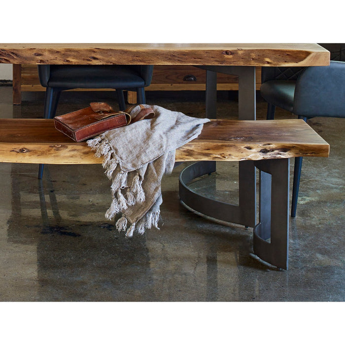 Moe's Home Collection Bent Bench Large Smoked - VE-1029-03 - Moe's Home Collection - Benches - Minimal And Modern - 1