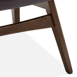 Baxton Studio Vera Mid-Century Modern 3-Piece Lounge Chair and Side Table Set Baxton Studio--Minimal And Modern - 4