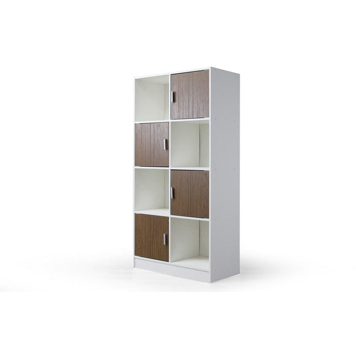 Baxton Studio Chateau White/Brown Bookcase Baxton Studio--Minimal And Modern - 1