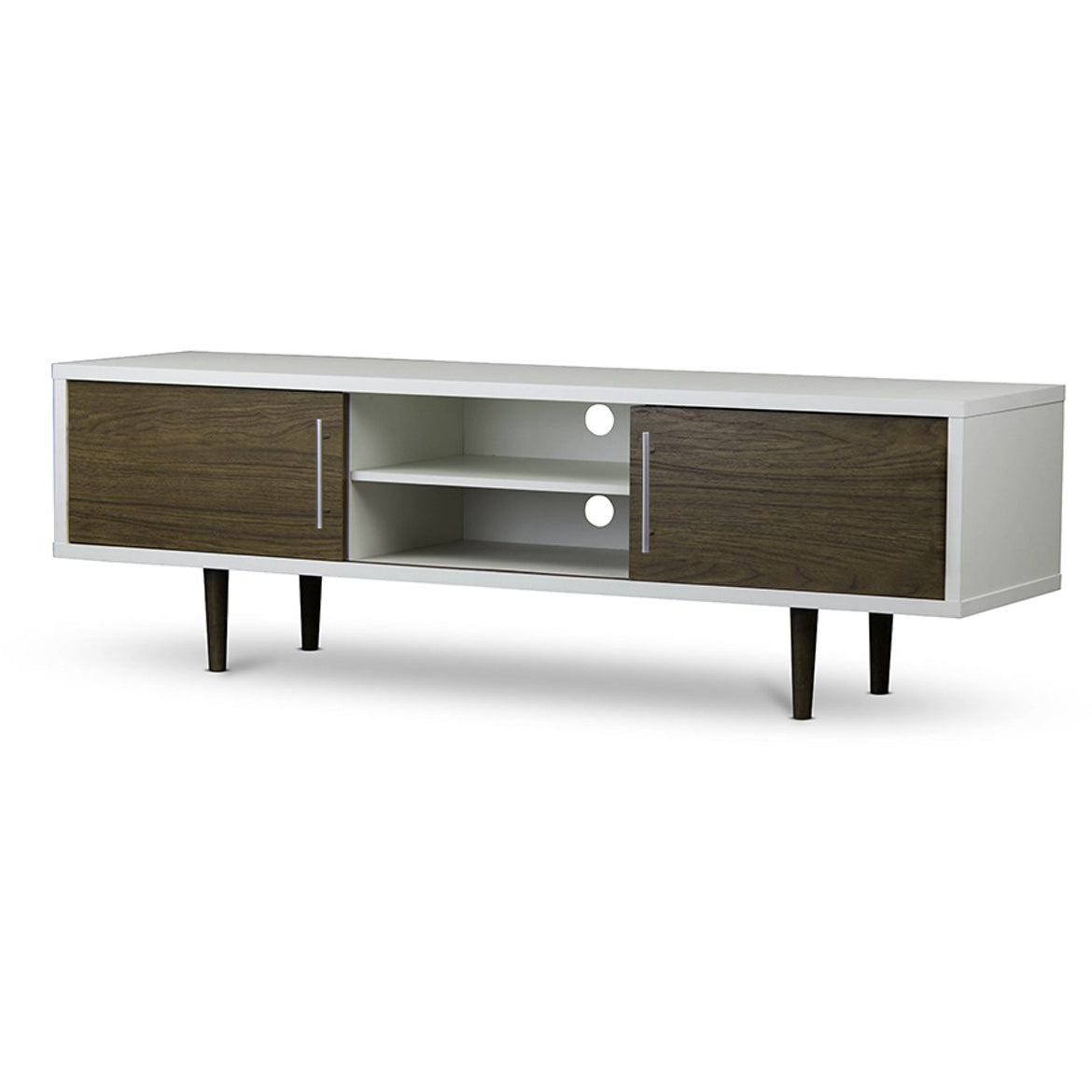 Baxton Studio Gemini Wood Contemporary TV Stand Baxton Studio-TV Stands-Minimal And Modern - 1