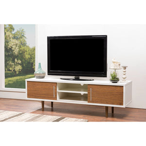 Baxton Studio Gemini Wood Contemporary TV Stand Baxton Studio-TV Stands-Minimal And Modern - 4
