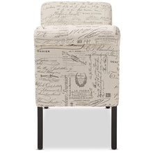 Baxton Studio Avignon Script-Patterned French Laundry Fabric Storage Ottoman Bench Baxton Studio-benches-Minimal And Modern - 3