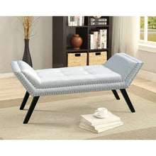 Baxton Studio Tamblin Modern and Contemporary White Faux Leather Upholstered Large Ottoman Seating Bench Baxton Studio-benches-Minimal And Modern - 5