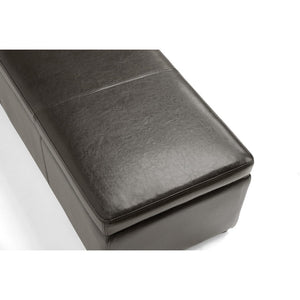 Baxton Studio Dennehy Dark Brown Modern Ottoman Baxton Studio-ottomans-Minimal And Modern - 4