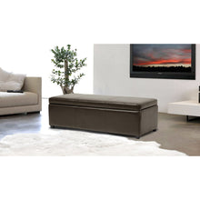 Baxton Studio Dennehy Dark Brown Modern Ottoman Baxton Studio-ottomans-Minimal And Modern - 5