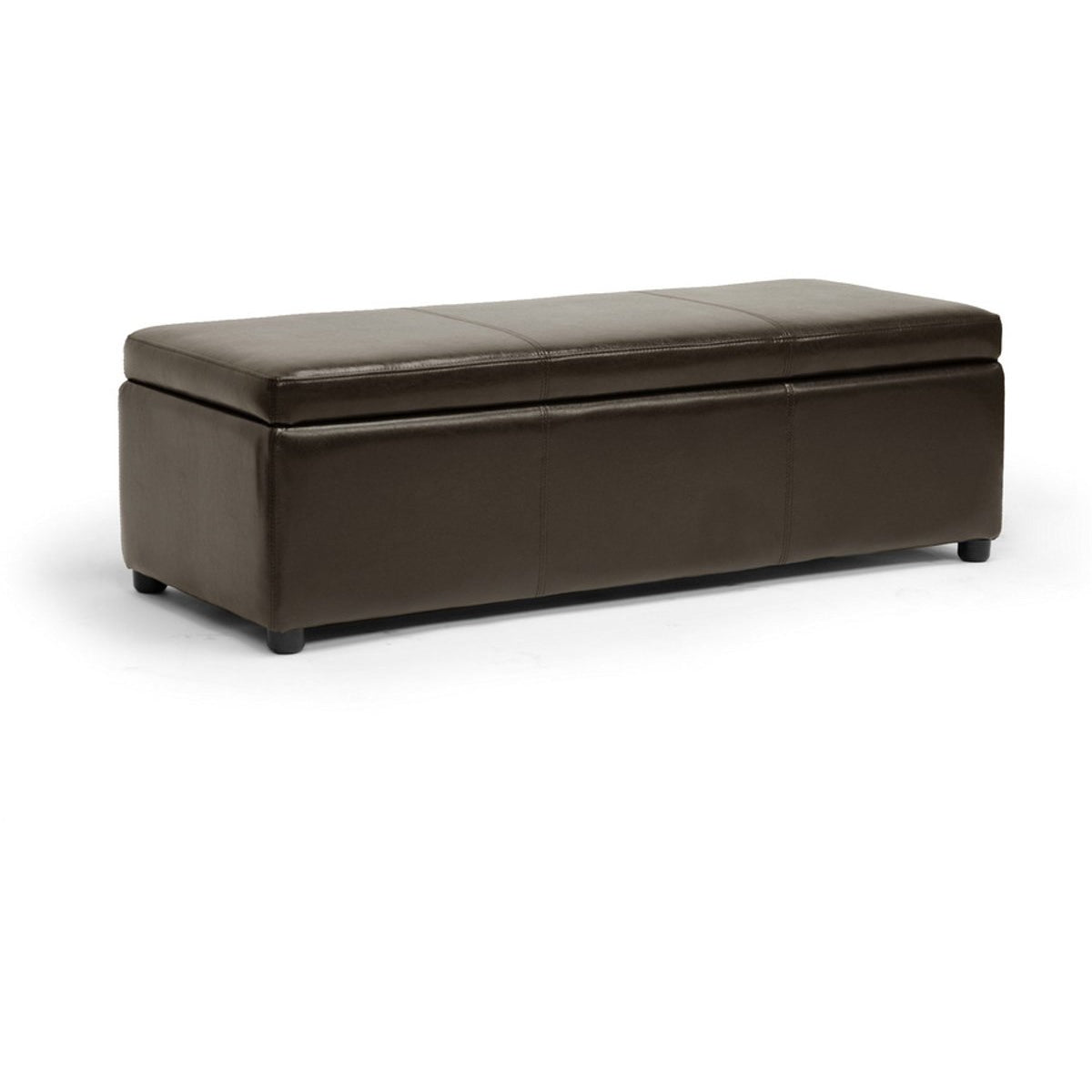 Baxton Studio Dennehy Dark Brown Modern Ottoman Baxton Studio-ottomans-Minimal And Modern - 1
