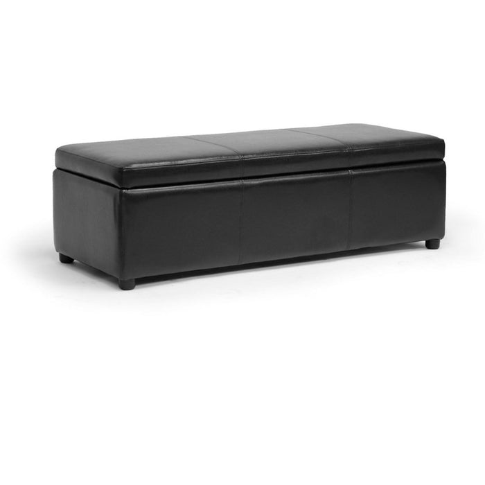 Baxton Studio Dennehy Black Brown Modern Ottoman Baxton Studio-ottomans-Minimal And Modern - 1