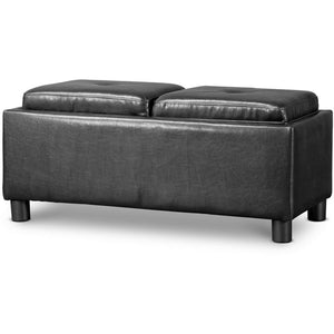 Baxton Studio Billiard Ottoman-Black Baxton Studio-ottomans-Minimal And Modern - 1