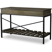 Baxton Studio Newcastle Wood and Metal Console Table-Criss-Cross Baxton Studio-side tables-Minimal And Modern - 3