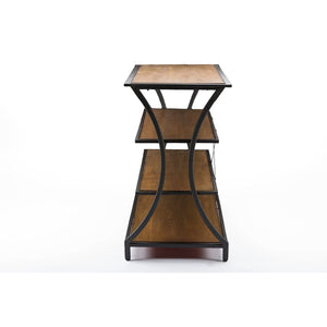 Baxton Studio Lancashire Brown Wood & Metal Console Table Baxton Studio-side tables-Minimal And Modern - 3