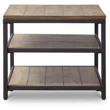 Baxton Studio Caribou Wood and Metal End Table Baxton Studio-coffee tables-Minimal And Modern - 2