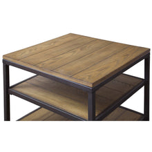 Baxton Studio Caribou Wood and Metal End Table Baxton Studio-coffee tables-Minimal And Modern - 3