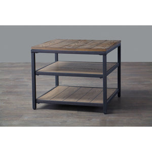 Baxton Studio Caribou Wood and Metal End Table Baxton Studio-coffee tables-Minimal And Modern - 4
