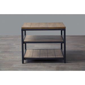 Baxton Studio Caribou Wood and Metal End Table Baxton Studio-coffee tables-Minimal And Modern - 5