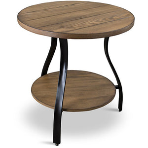 Baxton Studio Newcastle Wood and Metal 3-Piece Table Set Baxton Studio-coffee tables-Minimal And Modern - 1
