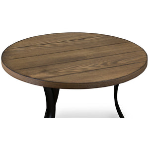 Baxton Studio Newcastle Wood and Metal 3-Piece Table Set Baxton Studio-coffee tables-Minimal And Modern - 2
