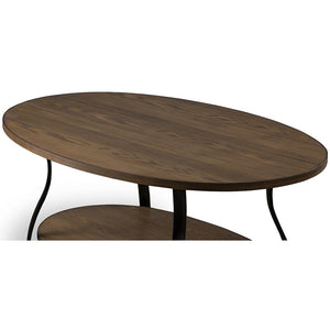Baxton Studio Newcastle Wood and Metal 3-Piece Table Set Baxton Studio-coffee tables-Minimal And Modern - 6