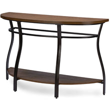 Baxton Studio Newcastle Wood and Metal Console Table Baxton Studio-side tables-Minimal And Modern - 1