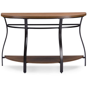 Baxton Studio Newcastle Wood and Metal Console Table Baxton Studio-side tables-Minimal And Modern - 2