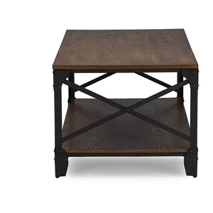 Baxton Studio Greyson Vintage Industrial Antique Bronze Occasional Cocktail Coffee Table Baxton Studio-coffee tables-Minimal And Modern - 2