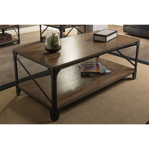 Baxton Studio Greyson Vintage Industrial Antique Bronze Occasional Cocktail Coffee Table Baxton Studio-coffee tables-Minimal And Modern - 4
