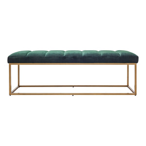 Moe's Home Collection Katie Bench Dark Green - ZT-1026-27 - Moe's Home Collection - Benches - Minimal And Modern - 1
