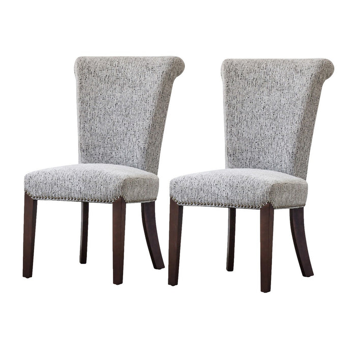 Bentley Fabric Nailhead Chair (Set of 2) by New Pacific Direct - 1900104