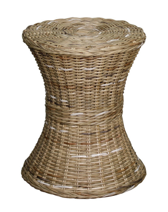 Kayla Rattan Round Stool by New Pacific Direct - 248819