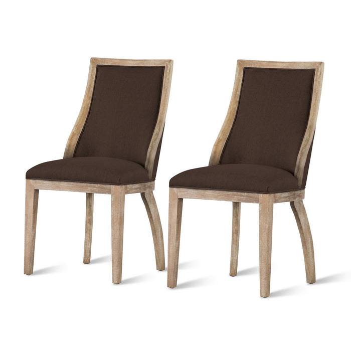 Taylor Fabric Chair (Set of 2) by New Pacific Direct - 3900037