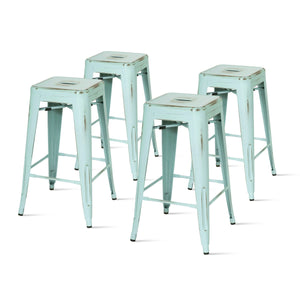 Metropolis Metal Backless Counter Stool (Set of 4) by New Pacific Direct - 938626