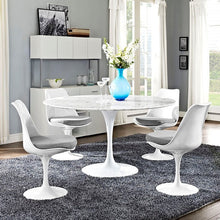 "Modway Furniture Modern Lippa 54"" Artificial Marble Dining Table In White EEI-1132-WHI-Minimal & Modern"