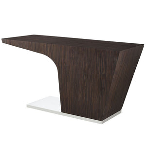 Modway Furniture Modern Warp Office Desk in Walnut EEI-1188-WAL-Minimal & Modern