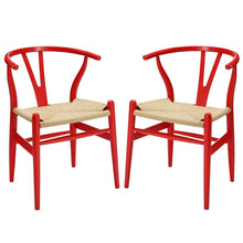 Modway Furniture Modern Amish Dining Armchair Set of 2-Minimal & Modern