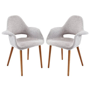 Modway Furniture Modern Aegis Dining Armchair Set of 2-Minimal & Modern