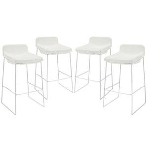 Modway Furniture Modern Garner Bar Stool Set of 4-Minimal & Modern