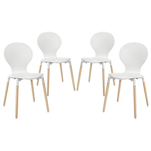 Modway Furniture Modern Path Dining Chair Set of 4-Minimal & Modern