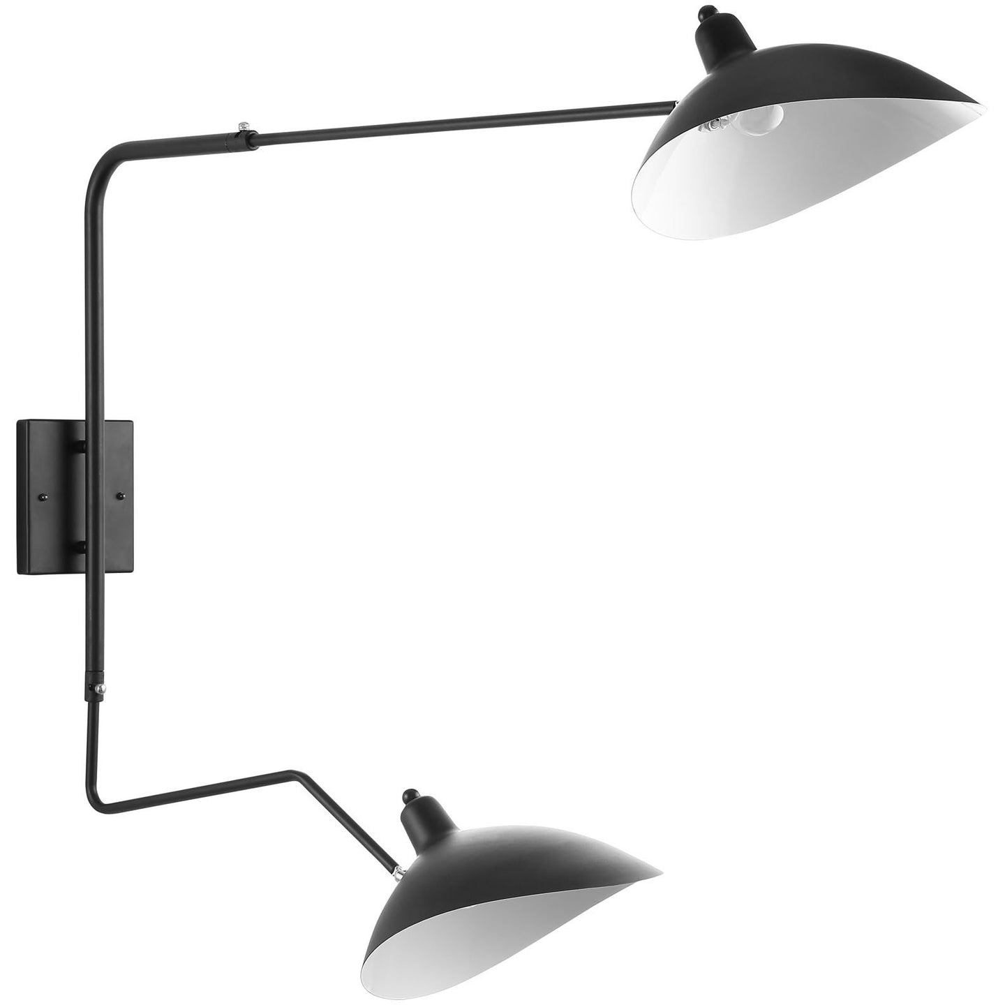 Modway Furniture View Double Fixture Wall Lamp EEI-1590-Minimal & Modern
