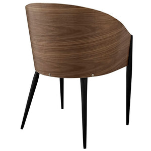 Modway Furniture Modern Cooper Dining Chairs Set of 4 In Walnut EEI-1683-WAL-Minimal & Modern