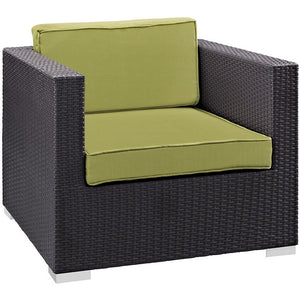 Modway Furniture Modern Gather Outdoor Patio Armchair-Minimal & Modern