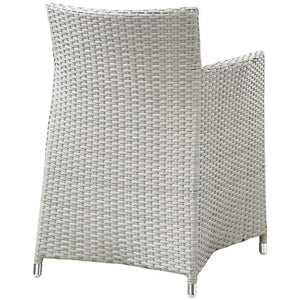 Modway Furniture Modern Junction Armchair Outdoor Patio Wicker Set-Minimal & Modern
